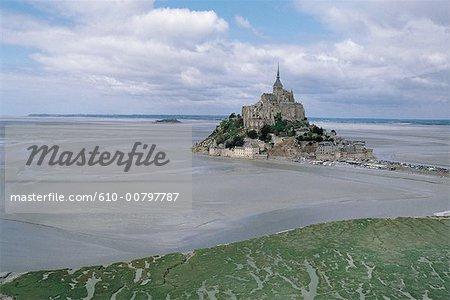 France, Normandie, mont Saint Michel, la baie