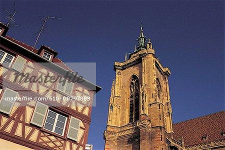 France, Alsace, Colmar, la cathédrale