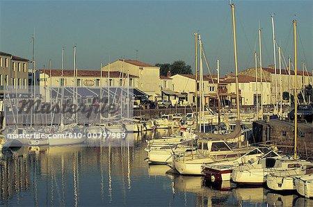 France, Poitou Charentes, Ile de ré, port de Saint-Martin