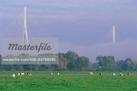 France, Normandy, bridge
