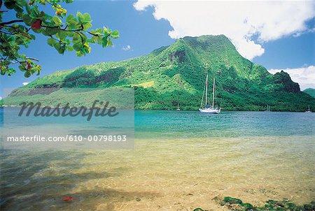 Polynésie, l'île de Moorea, la baie de Cook