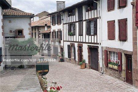 France, Aquitaine, Saint-Jean-Pied-de-Port, les maisons