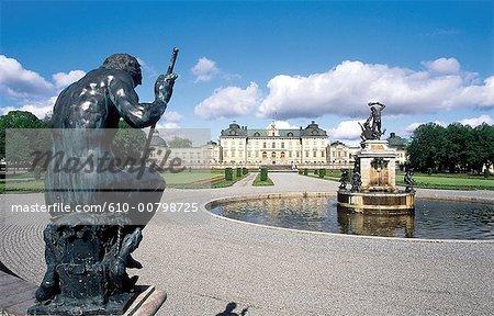 Sweden, Stockholm, castle of Drottningholm