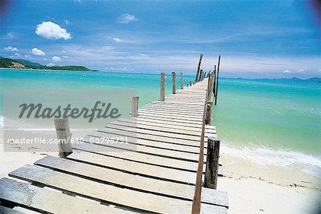Thaïlande, Koh Samui, ponton