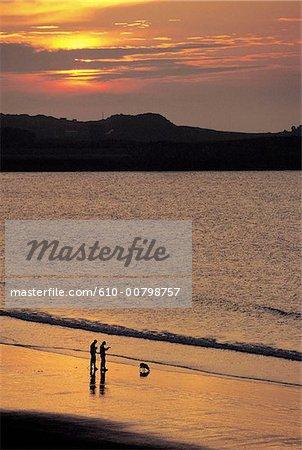 Pêcheurs de Guernesey, îles de la manche,