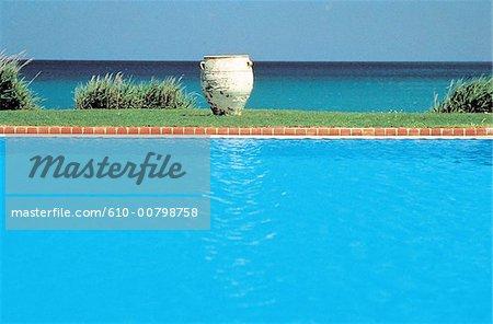 Grèce, Crète, piscine