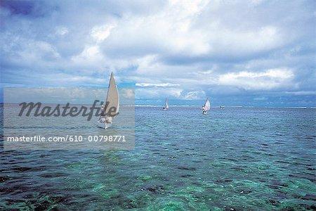 Bateaux de pêche de l'île Maurice, Rodrigues,