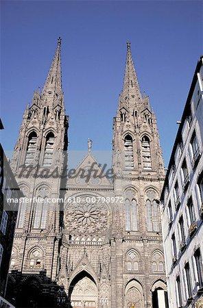 France, Auvergne, Clermont Ferrand, la cathédrale