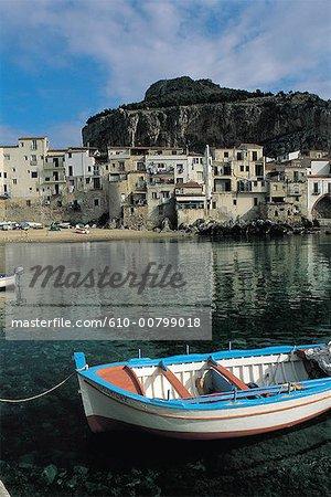 Italie, Sicile, Cefalù, le port