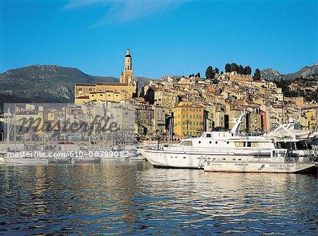France, Côte d'Azur, Menton, ville et port