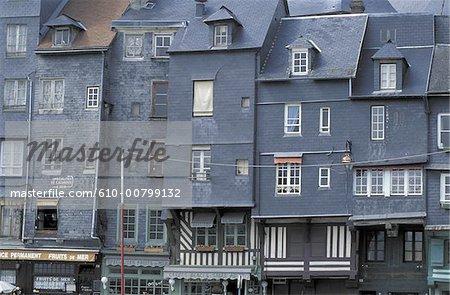 France, Normandy, street of Honfleur