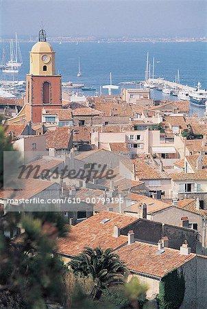 France, Côte d'Azur, Saint Tropez, la baie et village
