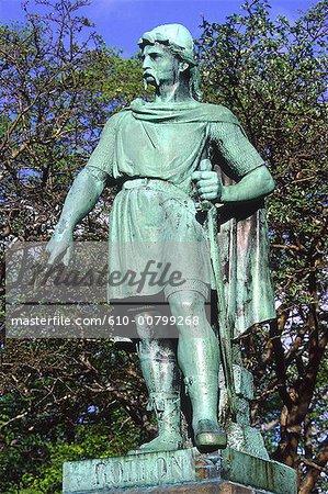 Norway, Alesund, statue of Rollon