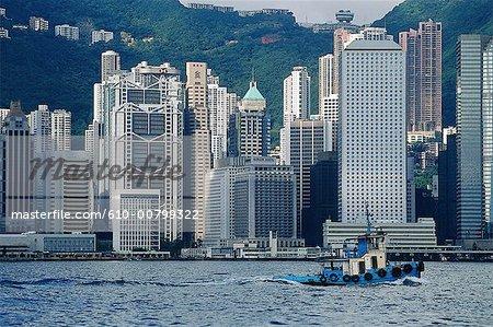 Chine, Hong Kong, Wanchai, front de mer.
