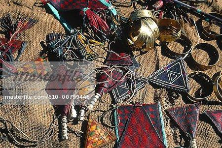 Atakor, Algérie, Hoggar, massif bijoux Touareg