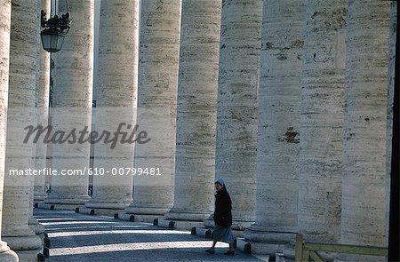 Italie, Rome, cité du Vatican, la place de St Peter