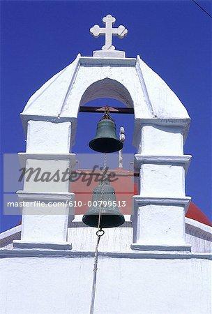 Grèce, Cyclades, Santorini, tour de la cloche