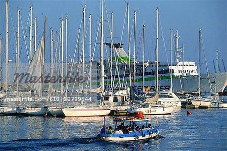 Spain, Barcelona, the port