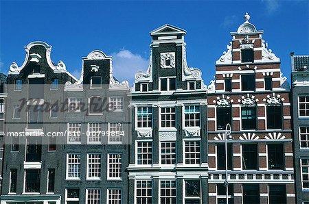 La Hollande septentrionale, Amsterdam, façades anciennes