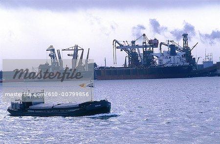 Pays-Bas, rotterdam, le port, la Hollande-méridionale
