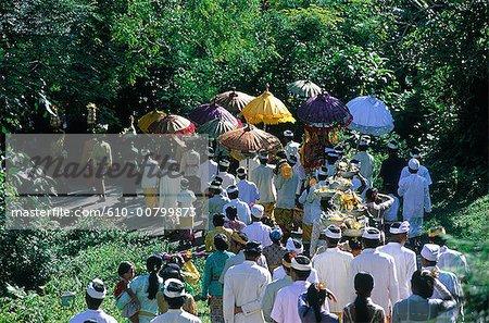 Indonésie, Bali, procession