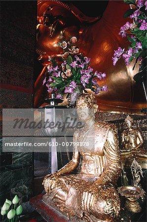 Thailand, Bangkok, Wat Phra Keo temple, golden buddha