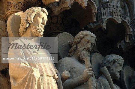 France, Paris, notre-Dame de Paris, sculptures