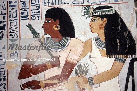 Egypte, Louxor, Deir el Medineh, tombeau de Senefer.