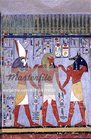 Egypte, tombeau de Louxor, vallée des rois, de Ramsès II.