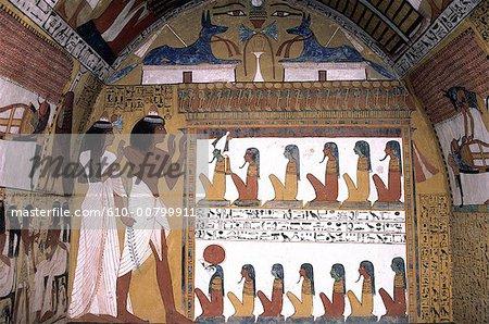 Tombe de Senedjem Egypte, Louxor.