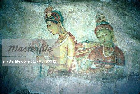 Sri Lanka, fresco of Sigiriya