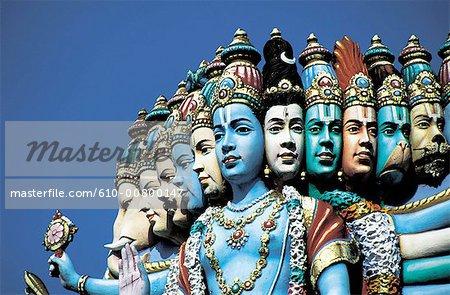 Singapour, le temple hindou Sri Perumal