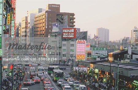 Japon, Tokyo, Shinjuku, quartier des affaires