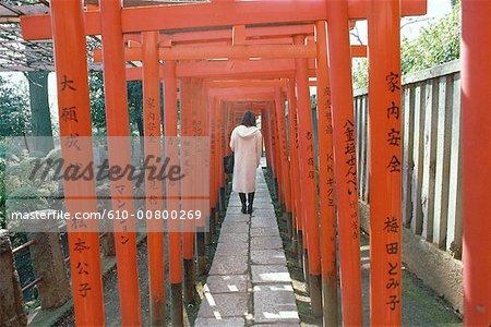Temple de shintoïst Japon, Tokyo, toriis