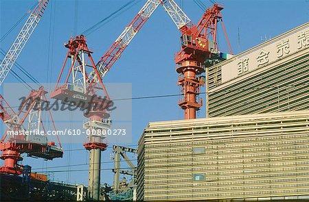 Japan, Tokyo, Shinjuku, buldings at works