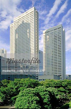 Japan, Tokyo, Shinjuku, office buildings