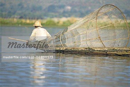 Myanmar, Shan state, Inle lake, fishing