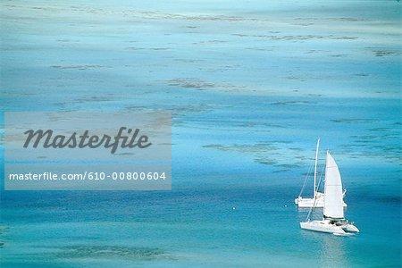 Polynésie française, îles de la société, l'île de Bora Bora, croisière
