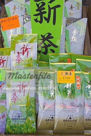 Japan, Kyoto, Uji, tea shop selling