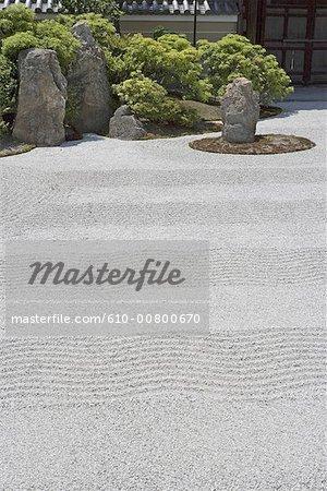 Temple de Japon, Kyoto, Kenninji, jardin zen