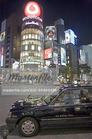 Japon, Tokyo, Ginza par nuit