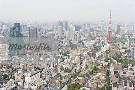 Vue générale au Japon, Tokyo,