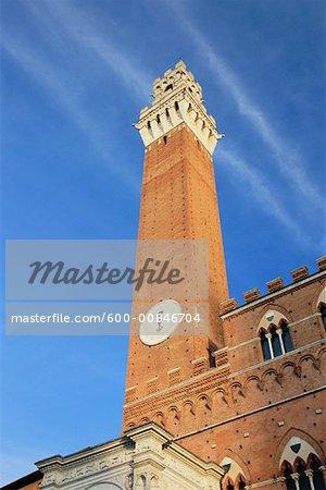Torre del Mangia, Sienne, Toscane, Italie