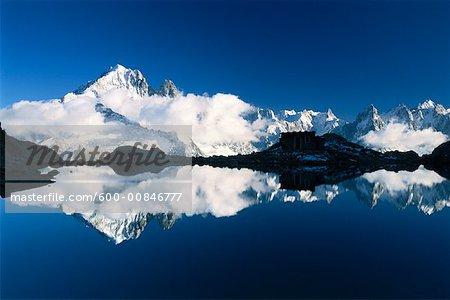 Aiguilles de Chamonix et le Lac Blanc, Rhone-Alpes, Chamonix, France