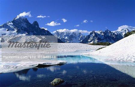 Aiguilles de Chamonix et le Mont Blanc, Chamonix, France