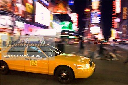CAB dans Times Square, New York, New York, USA
