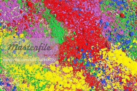 Bunte Pigment-Puder