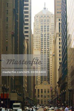 Facade of a building, Chicago Board of Trade, Chicago, Illinois USA