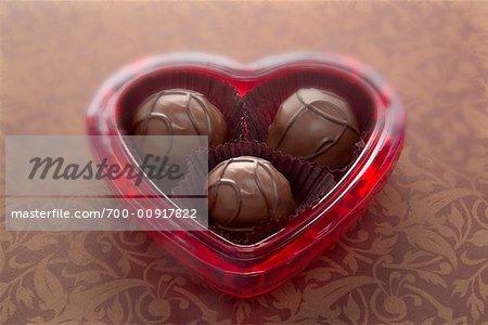 Chocolates in Valentine Container