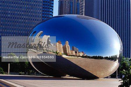 Cloud Gate Sculpture, Chicago, Illinois, USA